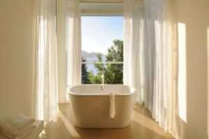 Sink into this elegant tub at WV BOW