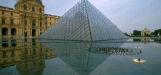 A view of the glass pyramid at the Louvre museum in Paris, France in the early morning hours of May 28, 1999. (Photo by Charles Small)