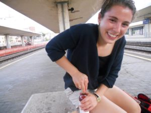 Mini wine at the train station