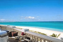 Turks and Caicos beach balcony