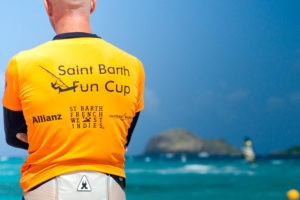 Rider awaits the first race at the Saint Barth Fun Cup