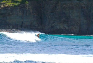 Surfing in St. Barths