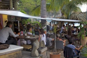 The chilled out beach vibe at the Zen Bar