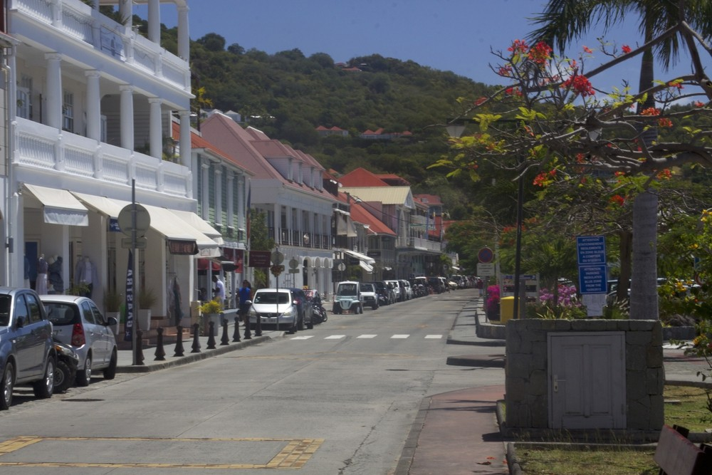 Rue de la Republique in Gustavia.