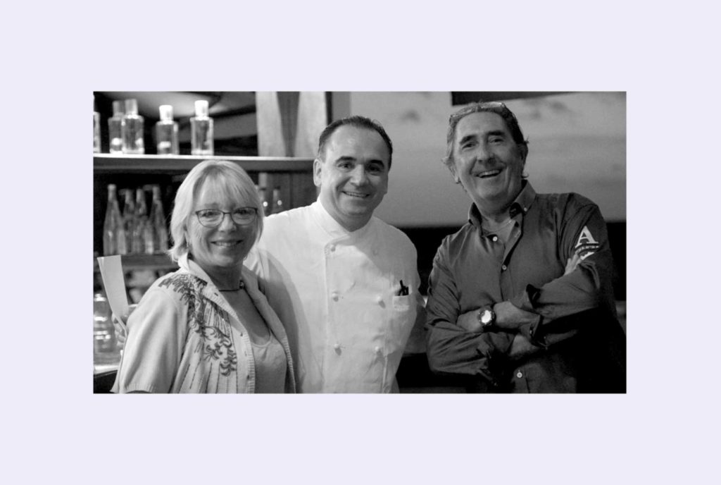 Chef Jean-Georges Vongerichten, with the owners of Do Brazil