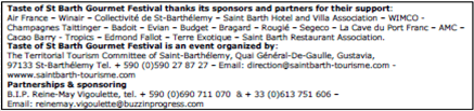Taste of St Barth Sponsors