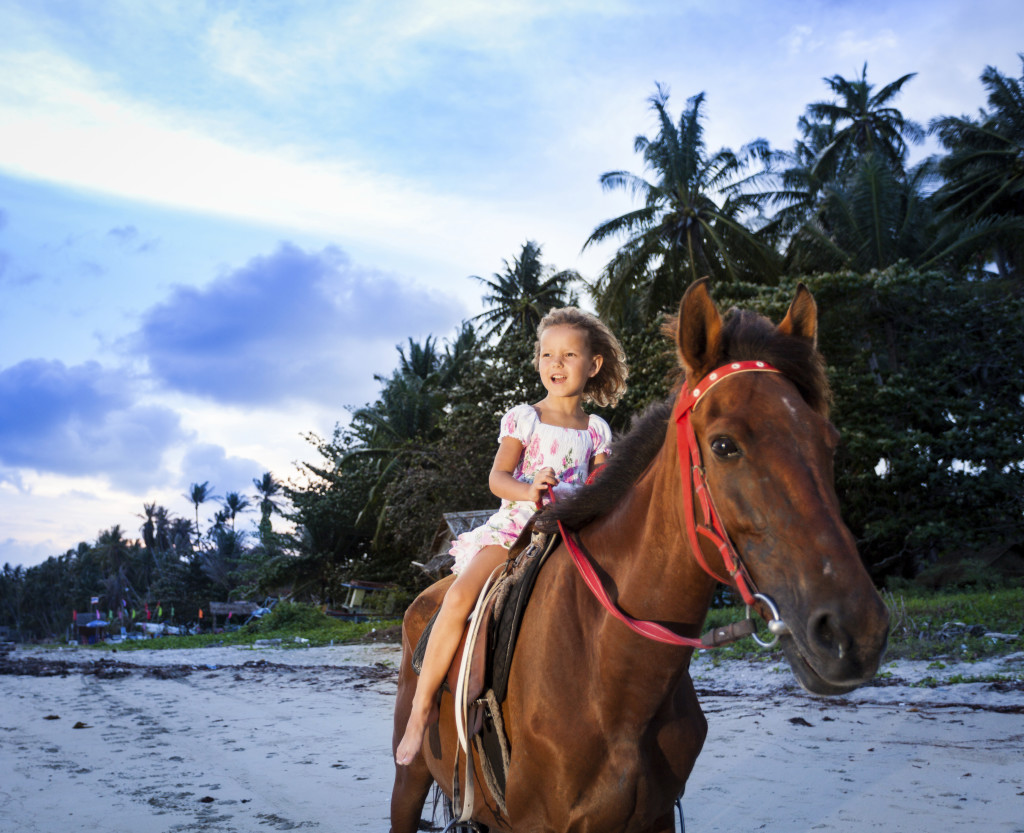Family Caribbean Vacations in Nevis, WIMCO Villas, Horseback Riding on the Beach