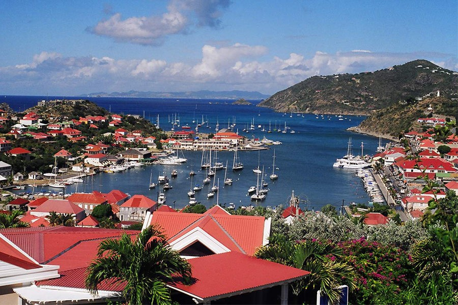 Gustavia, St. Barths, harbor, boats, wimco, wimco villas, vacation, vacation rental