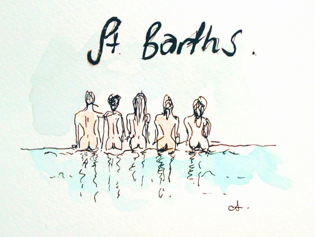 'Butts of St Barths' Illustrated by Anouk Colantoni at WIMCO Villa La Fleur de Mar for Eye-Swoon.com