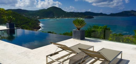 Villa Vitti overlooking Shell Beach in St. Barts