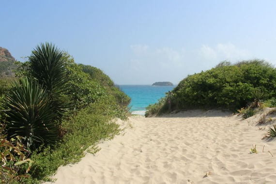 Welcome to Saline Beach. Photo by Sherry Jacobson.
