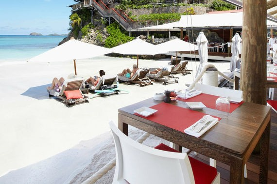Sand Bar Restaurant. Photo courtesy of Eden Rock Hotel.