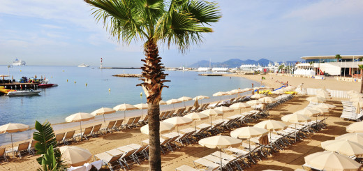 Summer in the Cote D'Azur, at one of Cannes beach clubs