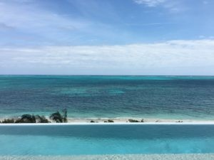 At PL BNC. I love how the beach is just below, but you have this pristine ocean view. WIMCO Villas, Beach Enclave, PL BNC, Turks & Caicos, Babalua Beach, Family Friendly Villa, 4 Bedroom Villa, 4 Bathroom Villa, Pool, View from Villa, WiFi