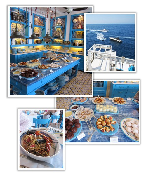 Heaven on earth, aka Il Riccio, a restaurant in Capri, Italy