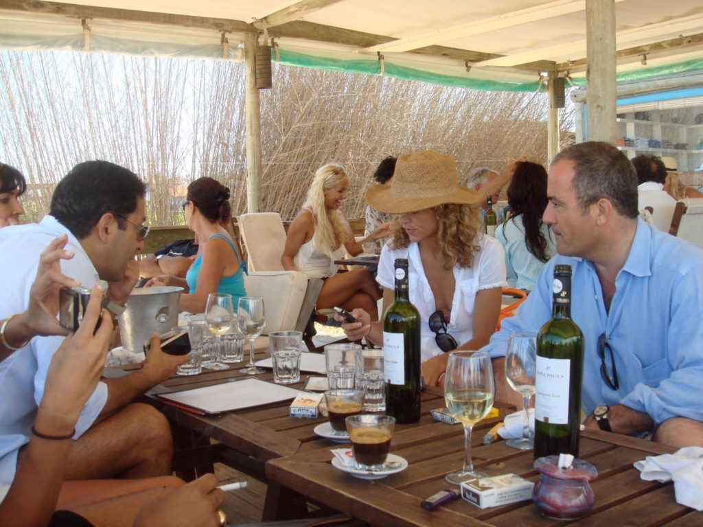 Chic South Americans congregate amid the dunes in Uruguay for languorous midday meals that can last until dusk. Keep things simple with sea bass cooked over coals and a pitcher of clericó.