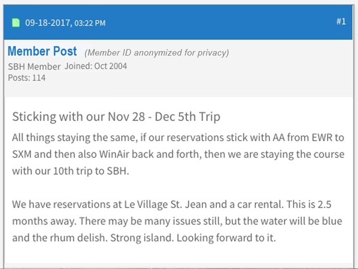 sbhonline Forum Members are looking forward to near-term travel