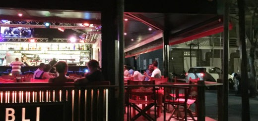 Gustavia is hopping at night - Bar L'Oubli is open, its TVs are on, and you can watch live sports at night
