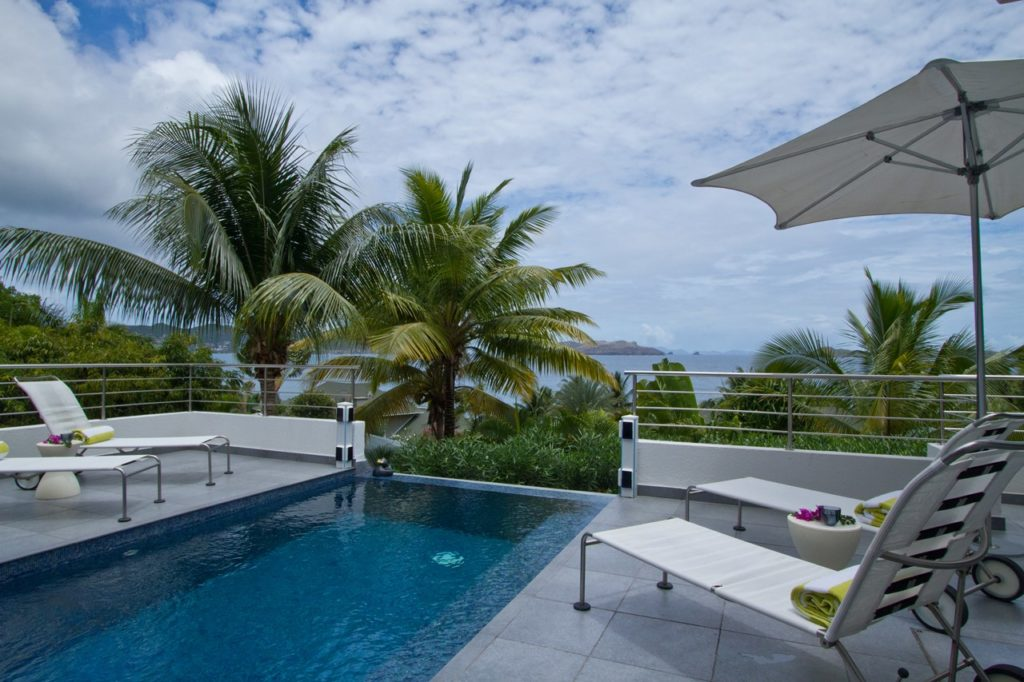Villa Pool at Villa WV JMS (Skrutten) at St. Barthelemy, Pointe Milou, Family-Friendly Villa, Pool, 2 Bedrooms, 2 Bathrooms, WiFi, WIMCO Villas