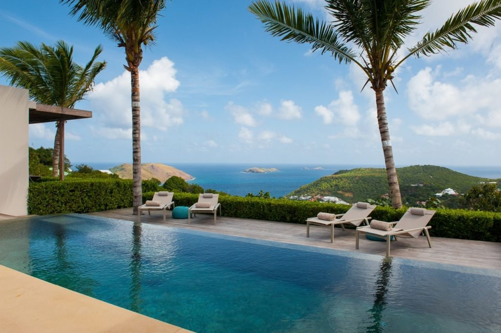Vacation villa with ocean views in St. Barths, beach house, beachfront villa