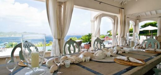 dinner at the villa in st barts