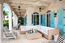 Turks and Caicos turquoise shutters