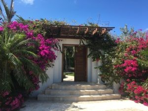 The entrance to Villa Turtle Breeze (TNC TBZ). All the villas in Turks had beautiful, friendly entrances like these. WIMCO Villas, Turtle Breeze, TNC TBZ, Turks & Caicos, Grace Bay/Beachside, Family Friendly Villa, 5 Bedroom Villa, 5 Bathroom Villa, Pool, Villa Entrance,, WiFi