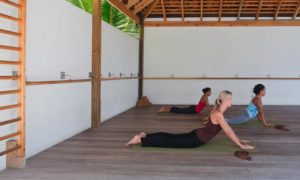 Exhale Core Fusion class at The Gansevort. Loved working out in the fresh air. (Photo courtesy of The Gansevoort)