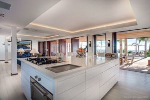 Spacious kitchen that flows into the living room at WV BLB.