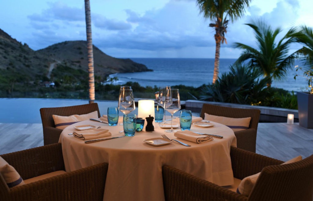 Hotel Le Toiny, St. Barth, Restaurant at Hotel Le Toiny, st. barts