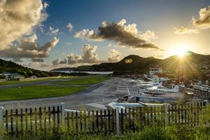 airport in st barts
